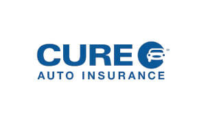 Marty Moran Voice Overs Cure Auto Insurance Logo